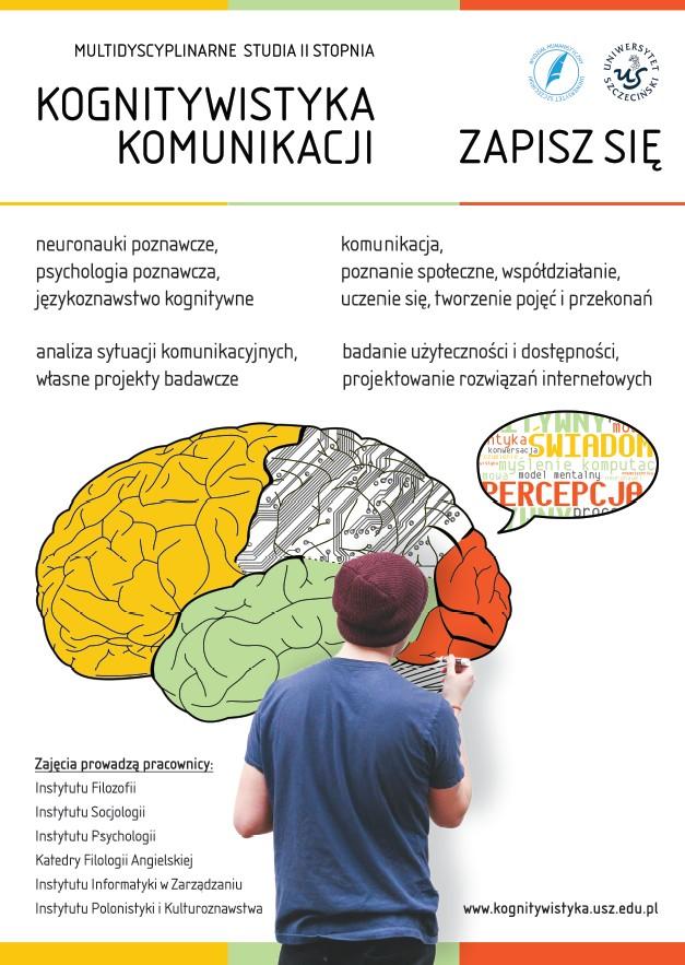 Plakat promujący studia Kognitywistyka Komunikacji II